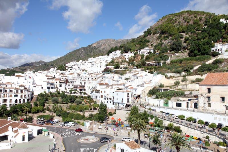 Frigiliana πόλη στην επαρχία Ισπανία της Μάλαγας στοκ φωτογραφία με δικαίωμα ελεύθερης χρήσης