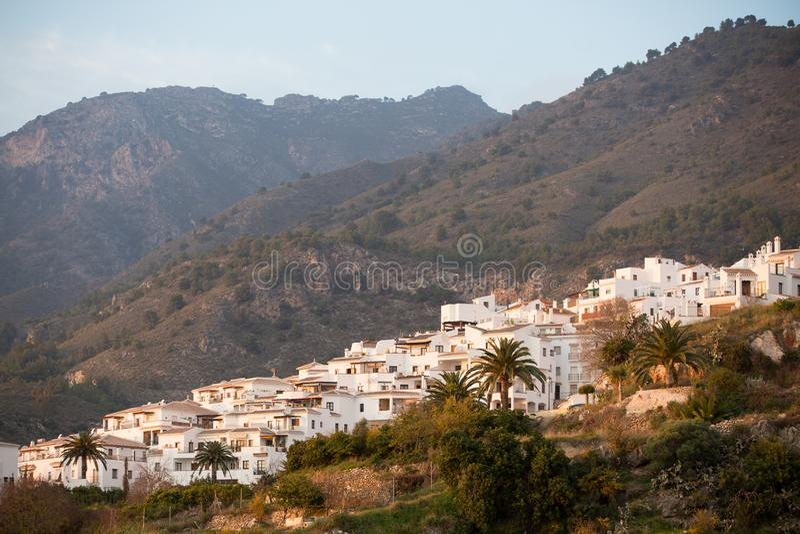 Frigiliana Pueblo Blanco άσπρη πόλη στοκ φωτογραφία με δικαίωμα ελεύθερης χρήσης