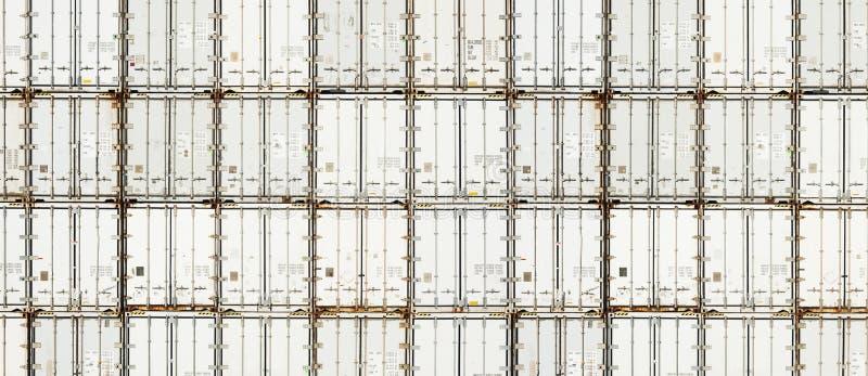 Frigoriferi dei contenitori Panorama Fondo fotografia stock libera da diritti