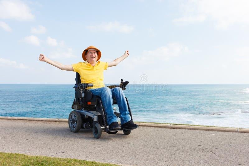 Frihet i rullstol royaltyfria foton