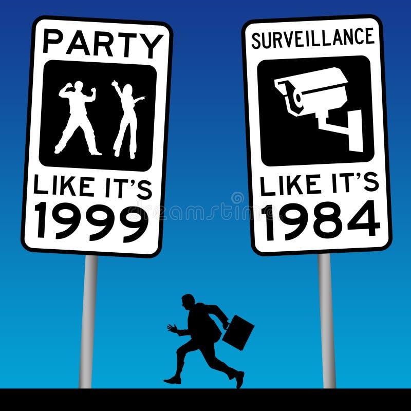 Frihet och säkerhet stock illustrationer