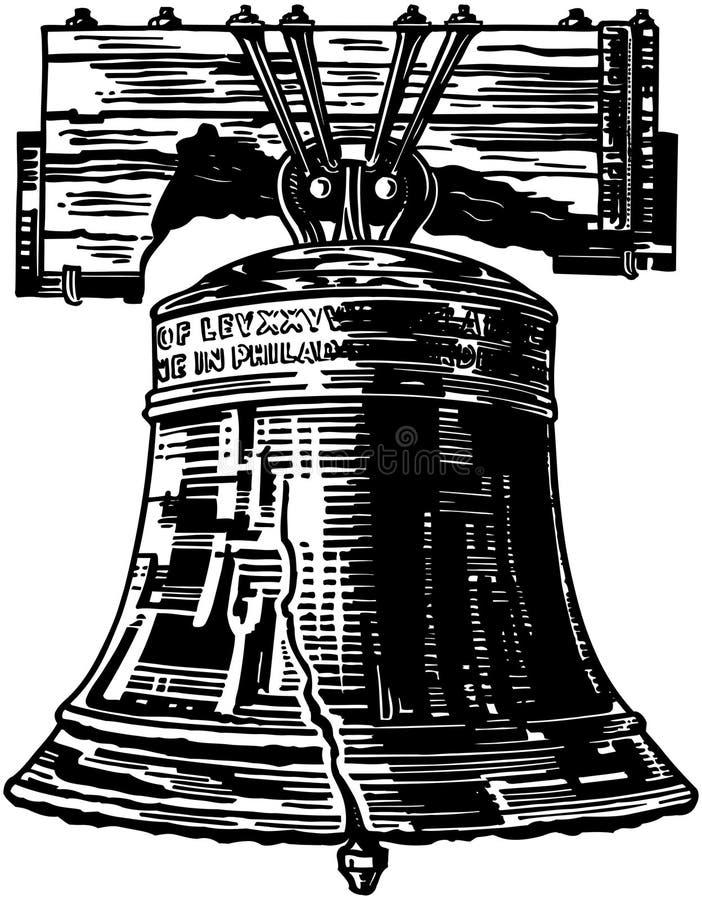 Frihet sätta en klocka på royaltyfri illustrationer