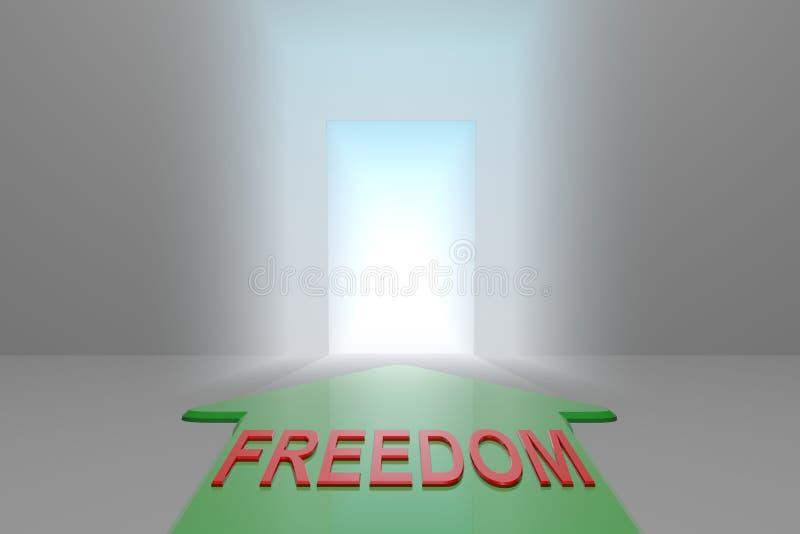 Frihet till den öppna porten royaltyfri illustrationer