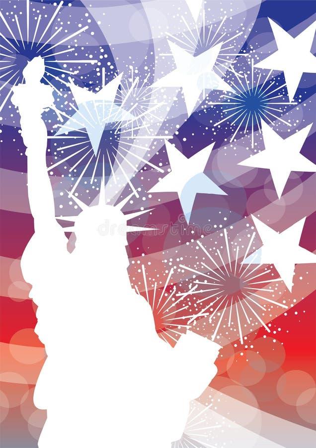 frihet USA royaltyfri illustrationer