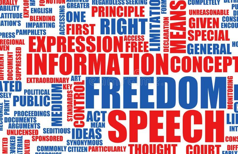 frihetsanförande stock illustrationer
