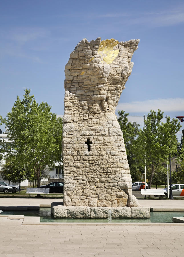 Frihetsmonument i Caplina stämma överens områdesområden som Bosnien gemet färgade greyed herzegovina inkluderar viktigt, planera  arkivbilder