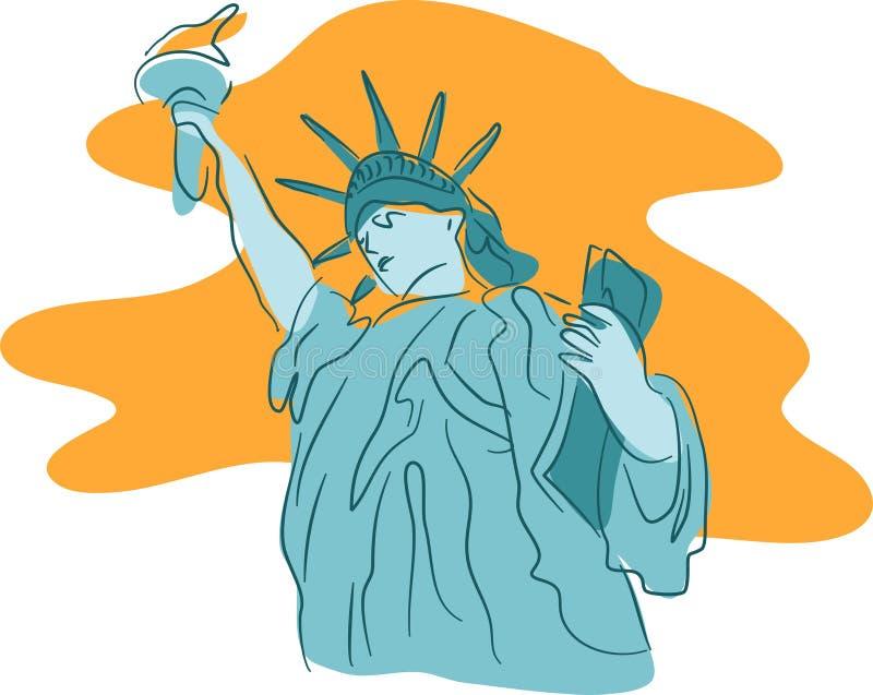Download Frihetstaty vektor illustrationer. Bild av landmarks, skulpturer - 41677