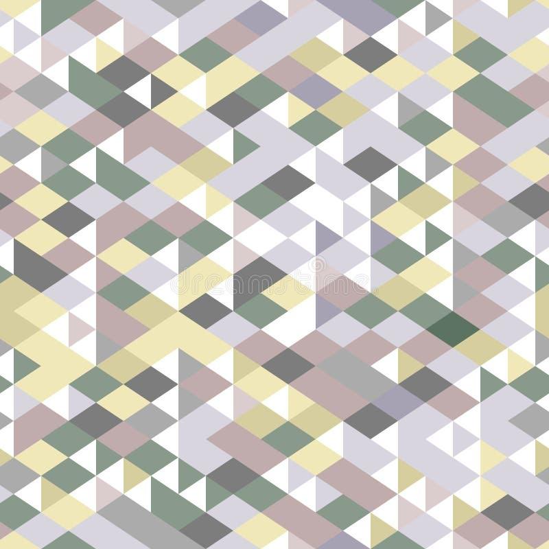 Friläge färgade trianglar den geometriska sömlösa modellen, vektor royaltyfri illustrationer