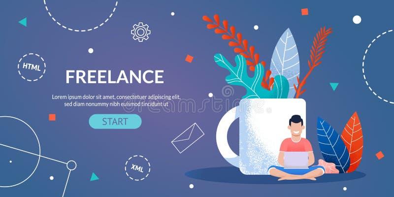 Frilans- arbete för formgivaren och programmerare Webpage vektor illustrationer