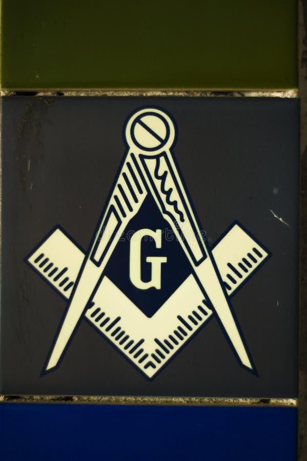 Frimurar- symbol royaltyfri fotografi