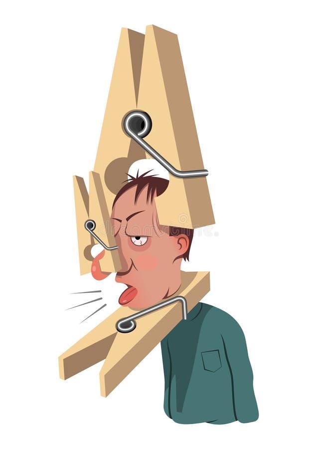 Frio e gripe ilustração royalty free