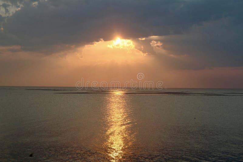 Fripp wyspy burza zdjęcie royalty free