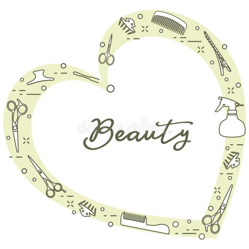 Frisörhjälpmedel nailfile skönhet spikar den polerande salongen manicure stock illustrationer