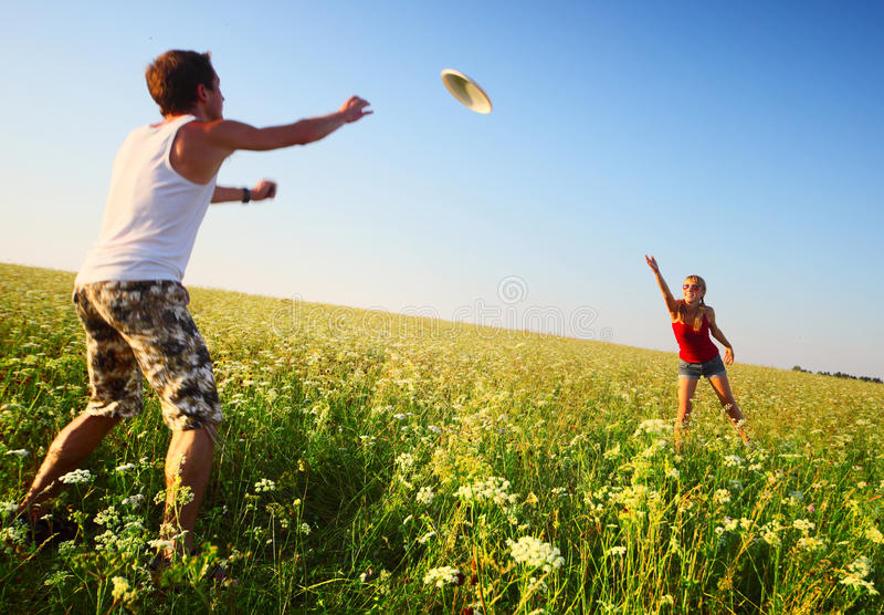 Frisbee stock photography
