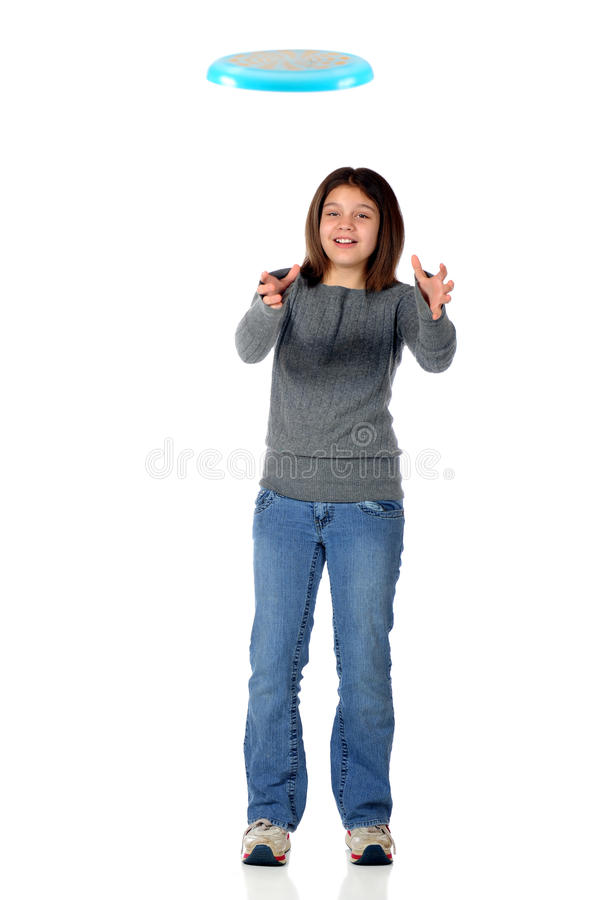 Download Frisbee Catcher stock photo. Image of jeans, active, female - 10658056