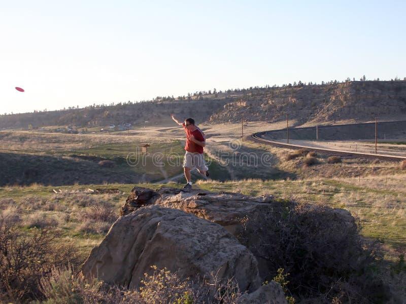 Frisbee-Golf - FOLF lizenzfreies stockbild