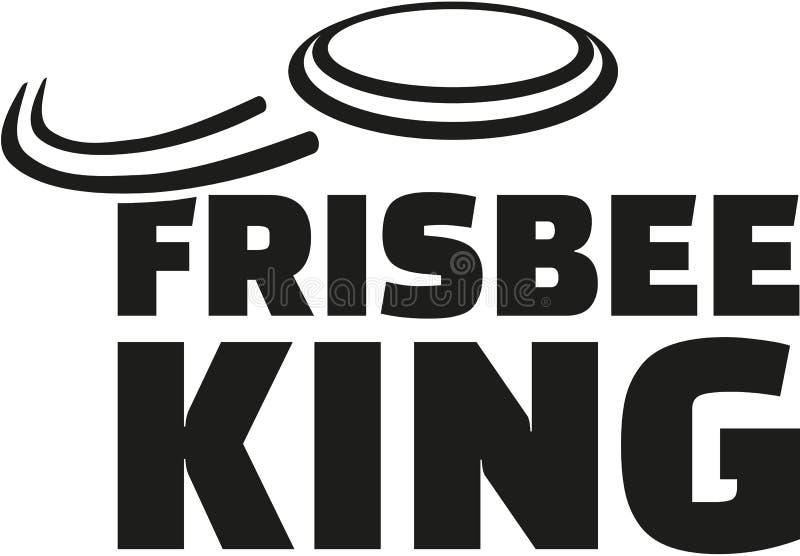 Frisbee królewiątko z latającym frisbee ilustracja wektor