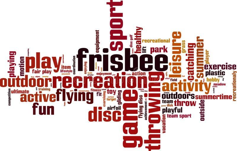 Frisbee słowa chmura ilustracji