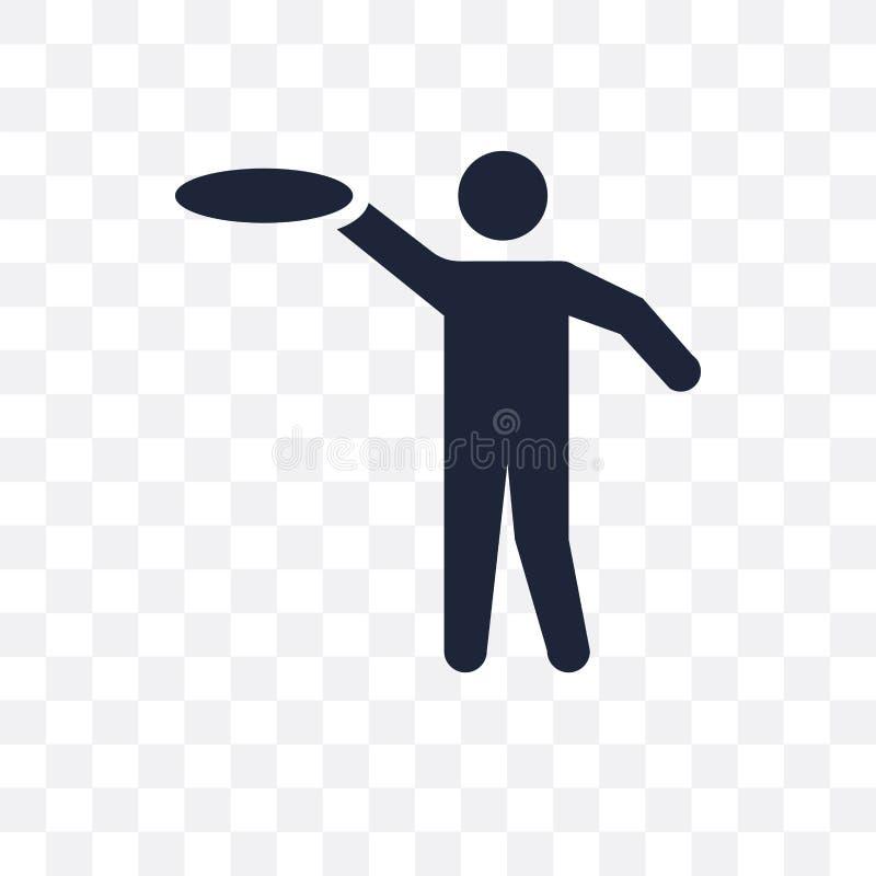 Frisbee transparant pictogram Het ontwerp van het Frisbeesymbool van Activiteit stock illustratie
