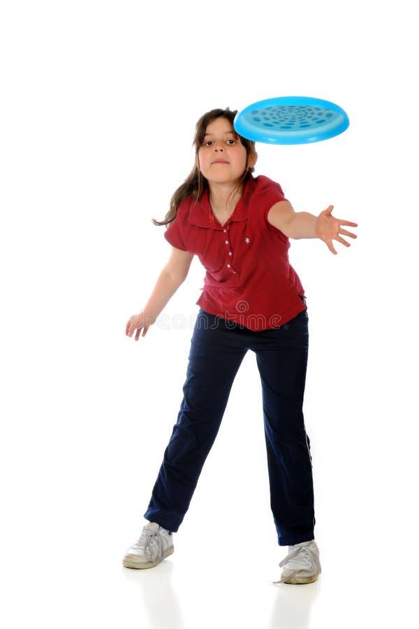 Frisbee-Wurf stockbild