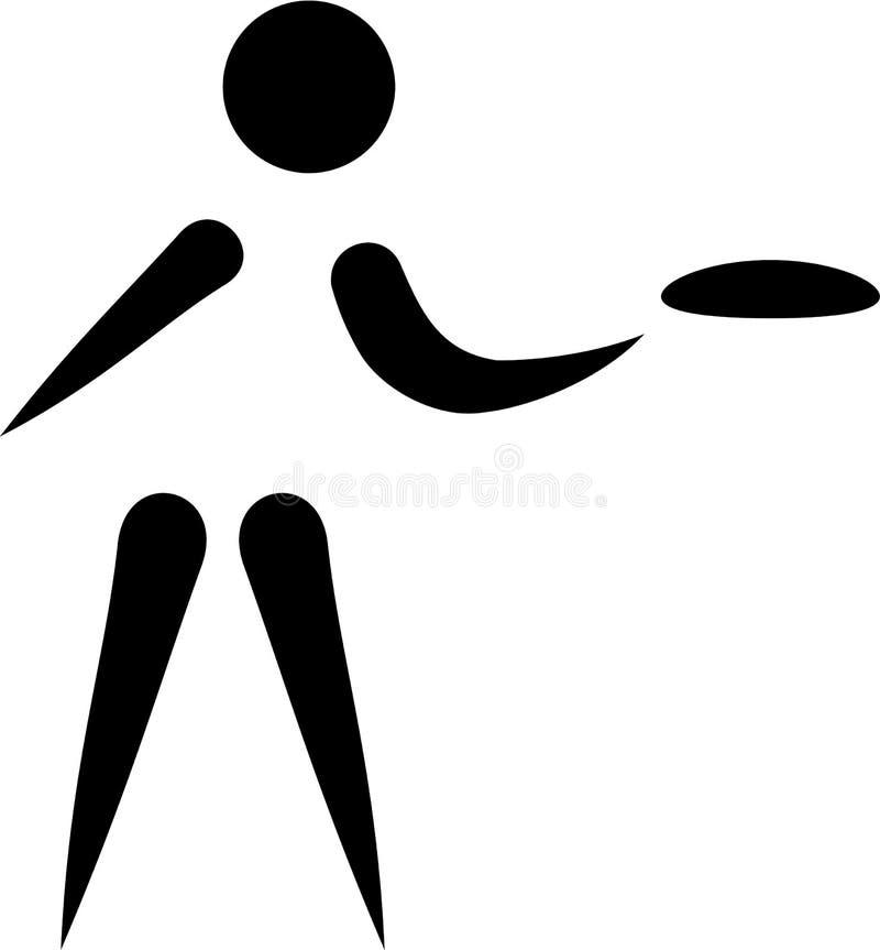 Frisbeegolf royalty-vrije illustratie