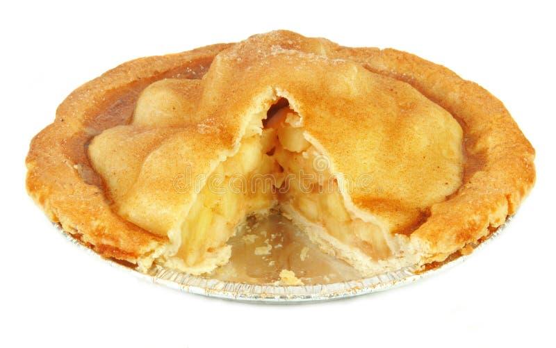 Frisch gebackener Apfelkuchen stockfoto