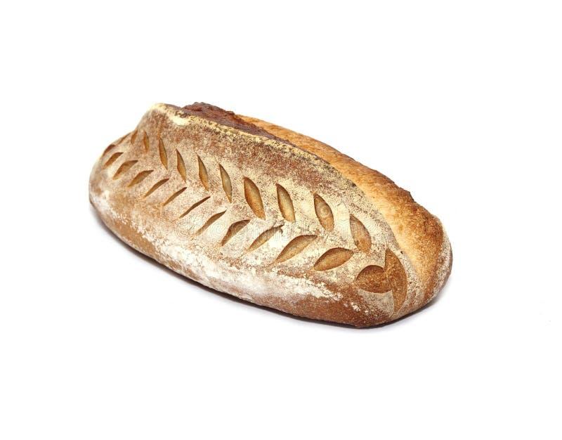 Frisch gebackenes Brot lokalisiert auf wei?em Hintergrund stockbild