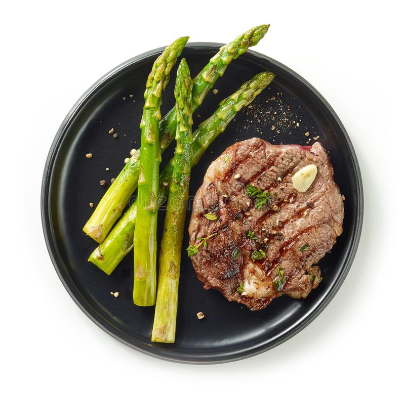 Frisch gegrilltes Steak stockfotos