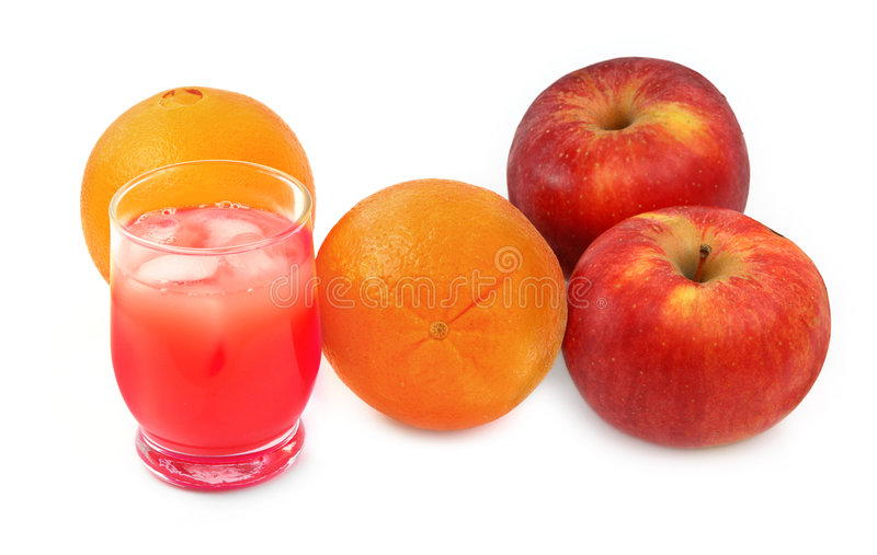 Frisch zusammengedrückter Fruchtsaft lizenzfreie stockbilder