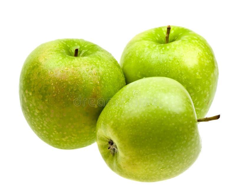 Frische Äpfel getrennt auf Weiß stockbilder