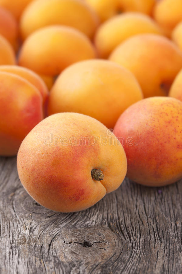 Frische Aprikosen lizenzfreie stockfotografie