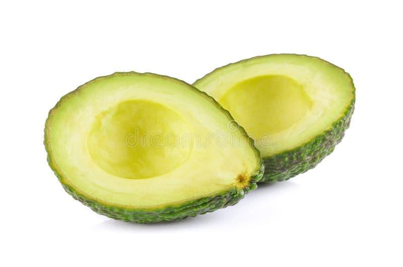 Frische Avocado auf weißem Hintergrund stockfoto