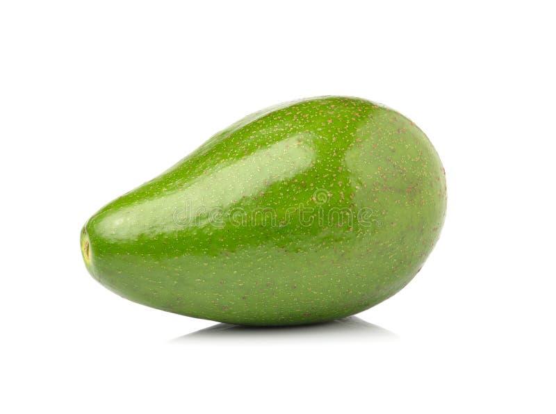 Frische Avocado auf weißem Hintergrund stockfotos