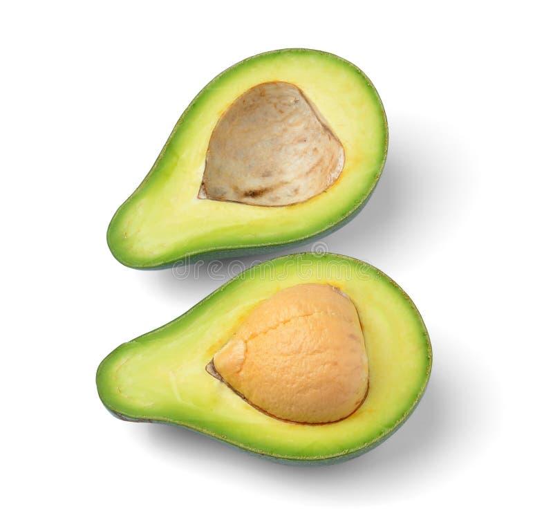 Frische Avocado auf weißem Hintergrund lizenzfreie stockfotografie