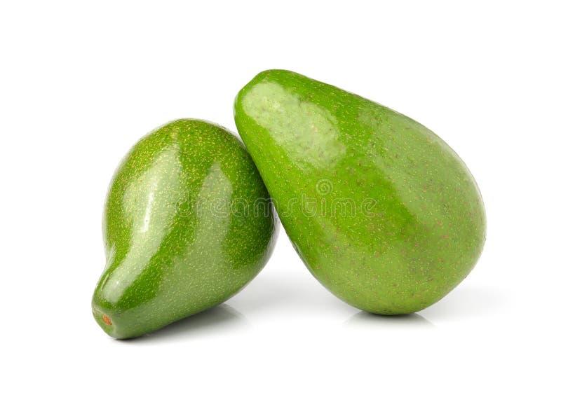 Frische Avocado auf weißem Hintergrund lizenzfreie stockbilder