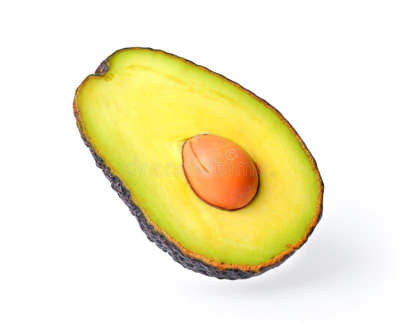Frische Avocado getrennt auf einem weißen Hintergrund lizenzfreies stockfoto