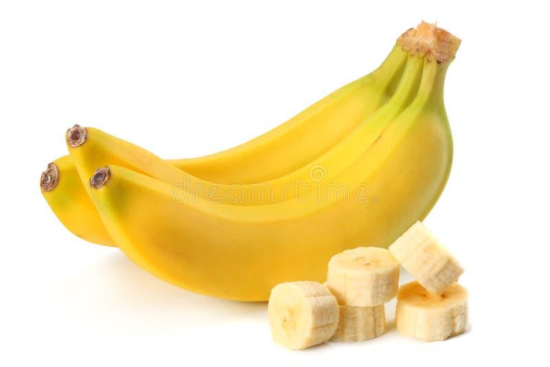 Frische Banane lokalisiert auf weißem Hintergrund Gesunde Nahrung stockfoto