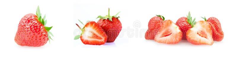 Frische Erdbeeren auf wei?em Hintergrund lizenzfreies stockfoto