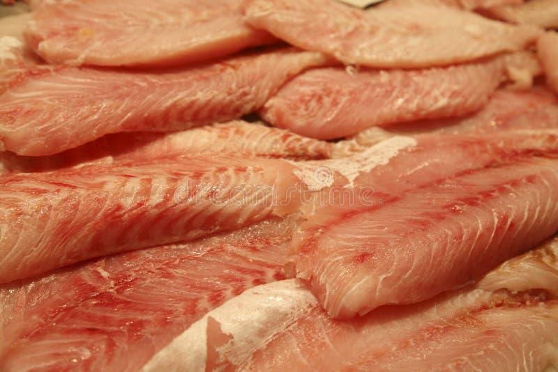 Frische Fischfilets lizenzfreies stockbild
