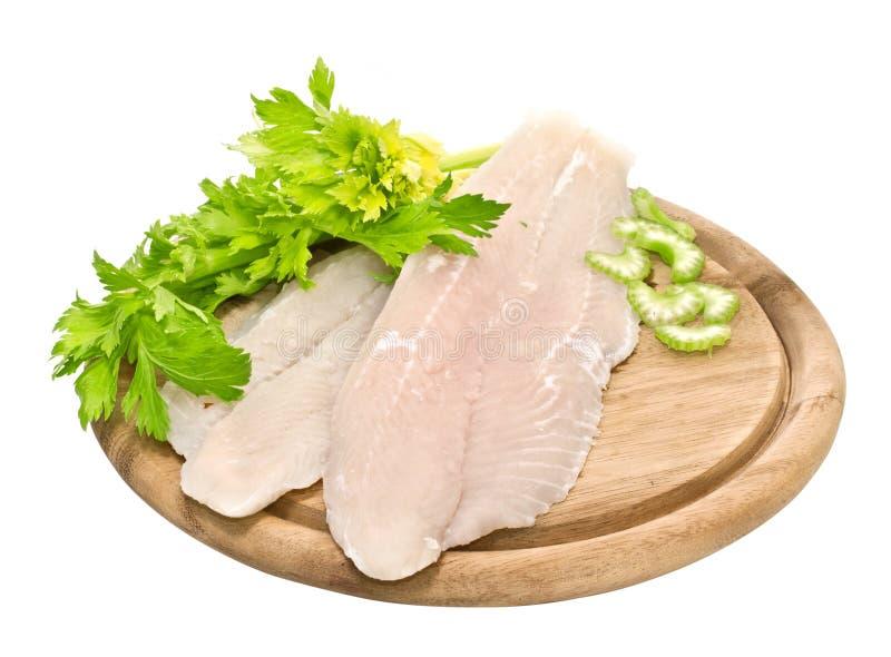 Frische Fischfilets stockbilder