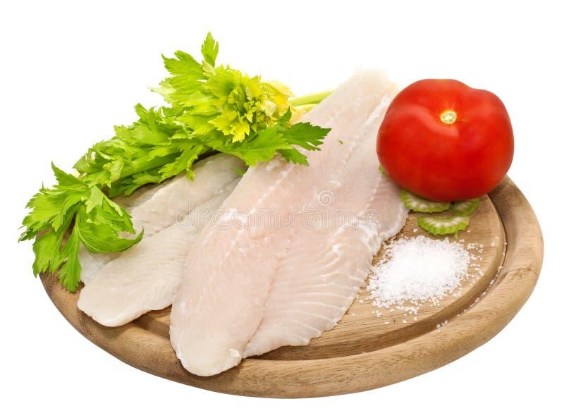Frische Fischfilets lizenzfreie stockbilder