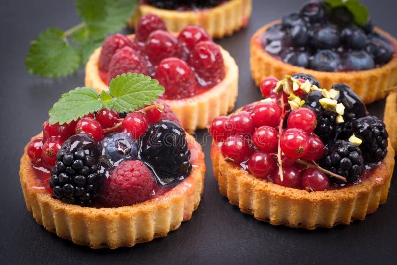 Kuchen der frischen Frucht lizenzfreie stockfotos