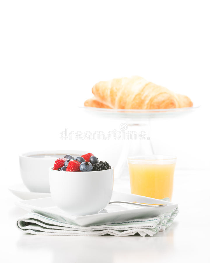 Frische Frucht-Frühstücks-Porträt stockbild