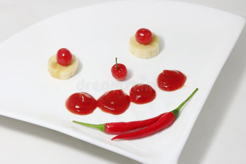 Frische Frucht-Mehrlagenplatte stockfotos