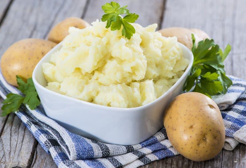 Frische gemachte Kartoffelpürees stockfotos