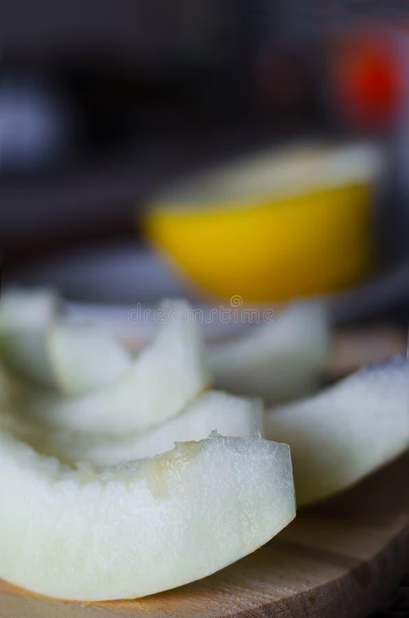 Frische geschnittene Melone stockbild
