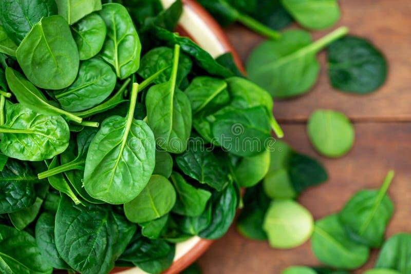 Frische grüne Babyspinatsblätter auf Hintergrundabschluß oben Beschneidungspfad eingeschlossen lizenzfreies stockfoto