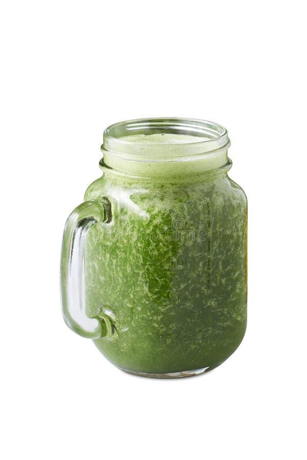 Frische grüne Gemüsesmoothie stockfotos