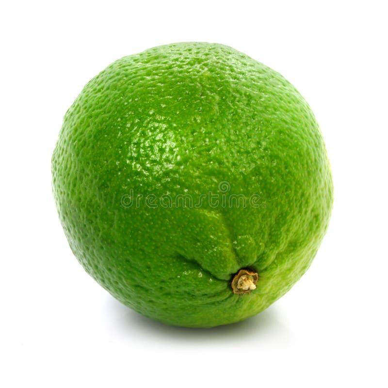 Frische grüne getrennte gesunde Nahrung des Kalkes Frucht stockfotos