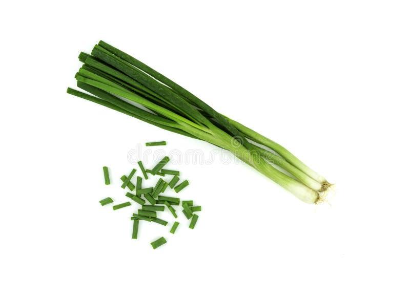 Frische grüne Zwiebel stockbilder